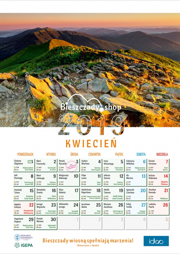 Bieszczadzki Kalendarz 2019